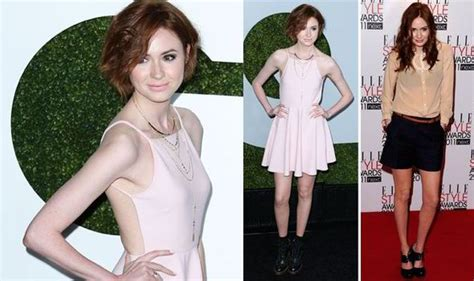 actress amy watson former doctor who actress karen gillan is barely