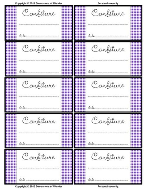 nostalgic french jelly jar labels in purple printable free