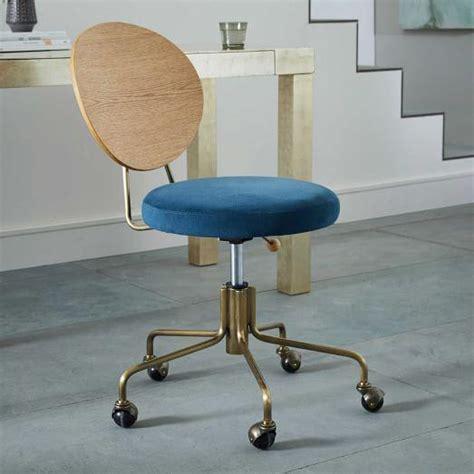 blue velvet office chair wooden back blue velvet seat office chair