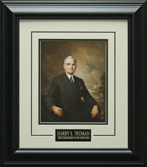 Framed And Matted by Framed And Matted Harry S Truman 33rd President Of The U S