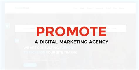 digital marketing agency template promote digital marketing agency free