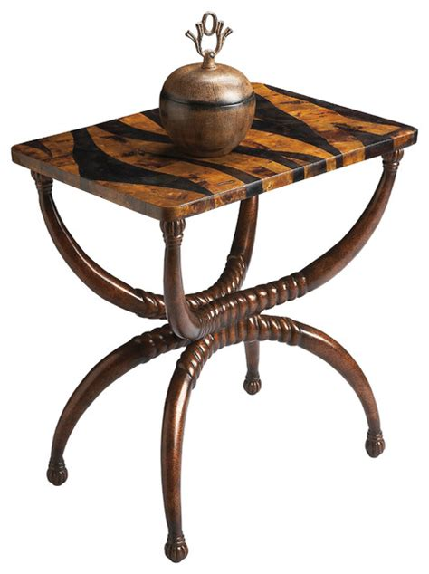 tropical accent tables tiger pattern accent table tropical side tables and