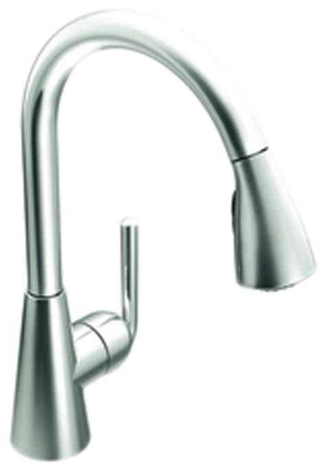 moen aberdeen single handle high arc pulldown kitchen faucet at menards 174 moen s71708 ascent high arc pull down single handle