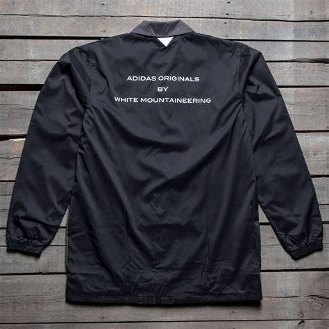 long bench jacket adidas men white mountaineering long bench jacket black