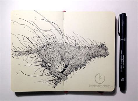 sketch book explosive moleskine doodles by kerby rosanes colossal
