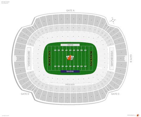 ravens seating baltimore ravens seating guide m t bank stadium