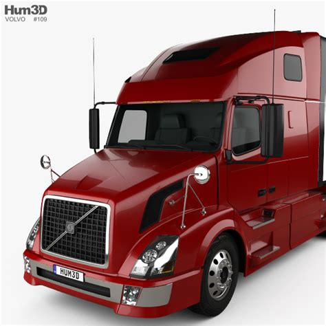 volvo truck 2011 volvo vnl 660 tractor truck 2011 3d model hum3d
