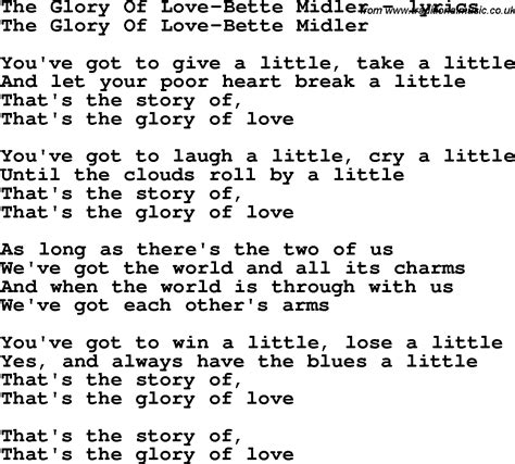 bette midler the lyrics song lyrics for the of bette midler