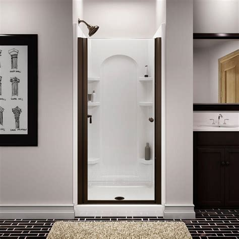 sterling bathroom sterling finesse 34 in x 65 1 2 in semi frameless pivot