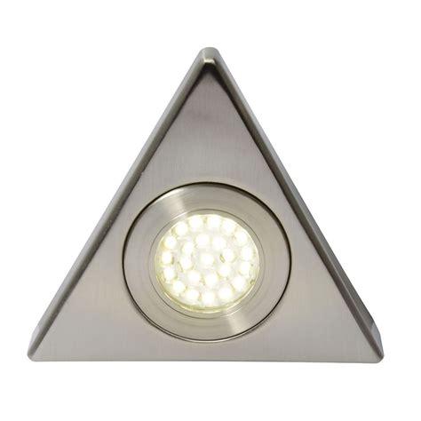 triangular under cabinet kitchen lights scott triangular warm white led under kitchen cabinet light satin nickel from litecraft