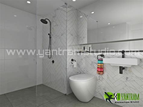 visualize your modern bathroom design with yantram 3d rendering 4 kanal house modern contemporary minimalism