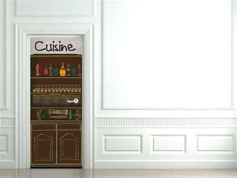 fa軋de de porte de cuisine sticker d 233 cor de porte cuisine d 233 corations murales par