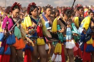 Zulu reed dance in swaziland