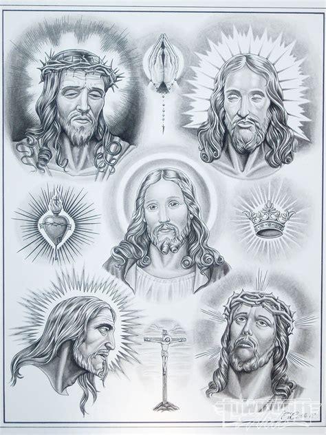 tattoo flash of jesus tattoo artist enrique castillo lowrider arte magazine