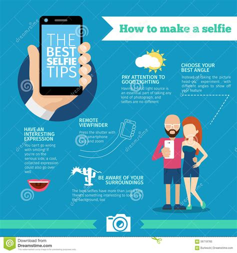 7 Tips On How To Make Your Time A Pleasant Memorable Experience by The Best Selfie Tips How To Make Infographic And Stock