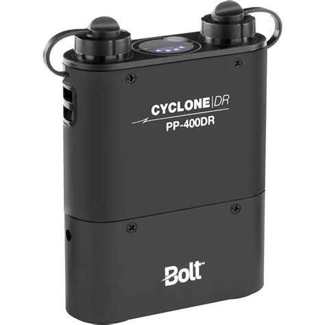 battery powered outlet for l bolt cyclone dr pp 400dr dual outlet power pack pp 400dr b h