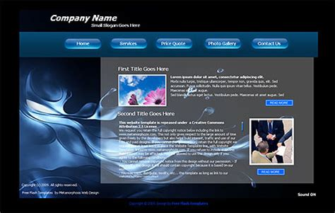 Metamorphosis Design Blog Easy Free Flash Template Flash Presentation Templates Free