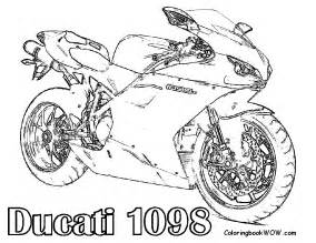 free motorcycle coloring letscoloringpages ducati 1098 free printable coloring pages