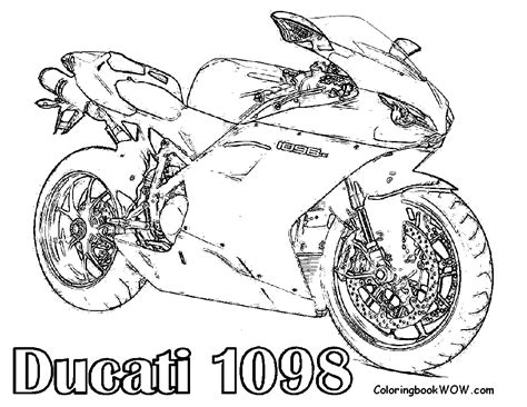 ducati motorcycle coloring pages free motorcycle coloring page letscoloringpages com