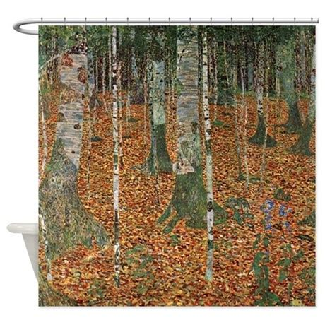 klimt shower curtain gustav klimt birch forest shower curtain by iloveyou1