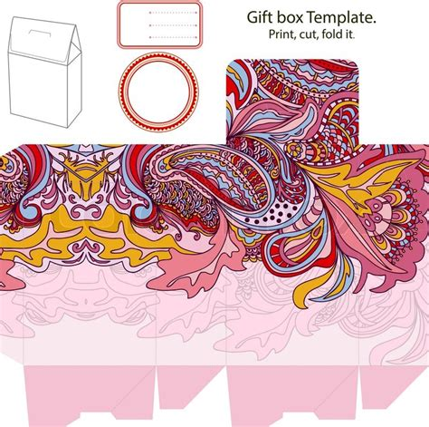 Gift Card Holder Template Illustrator by Gift Box Template Stock Vector Colourbox