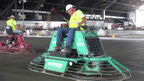 A Ride on Power Trowel Machine in Action at Museum   YouTube
