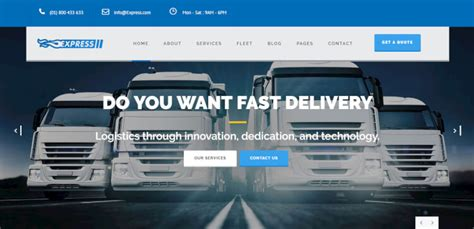 Express Logistics Transport Logistics Html Template 27 best transport themes 2018 theme junkie