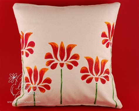 Fabric Painting Designs For Pillow Cases by In Touch Painted Canvas Pillow Cover