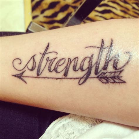 small strength tattoos arrow tattoos and designs page 60
