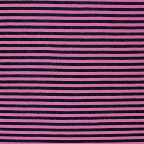 striped cotton knit fabric mini black and pink stripe cotton jersey blend knit fabric