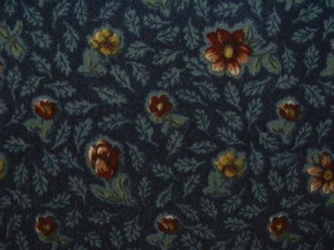 Find Upholstery by Retro Upholstery Craft Fabric Cut Navy W Rust Floral