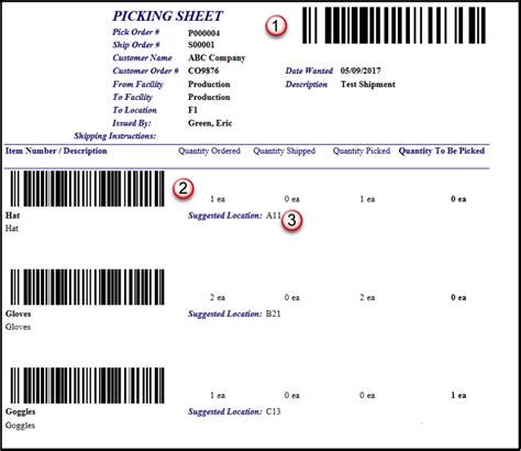 picking sheet using barcodes to reduce e commerce picking errors the
