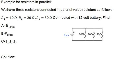 three resistors connected in parallel individual values of 4 0 6 0 and 10 0 three resistors connected in parallel individual values of 4 0 6 0 and 10 0 28 images zero a