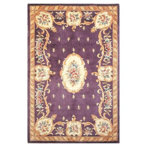 plum and rug kas rugs aubusson plum 3 ft 3 in x 5 ft 3 in area rug rub890333x53 the home depot