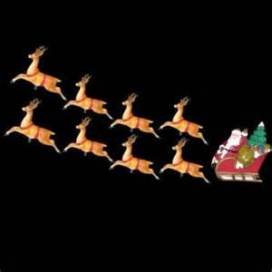 10 light santa sleigh and eight reindeer light set