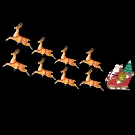 10 light santa sleigh and eight reindeer light set
