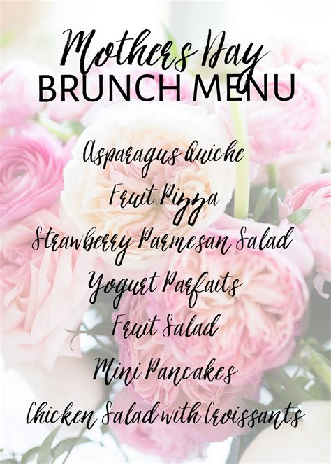 mother s day brunch menu ideas one stylish party