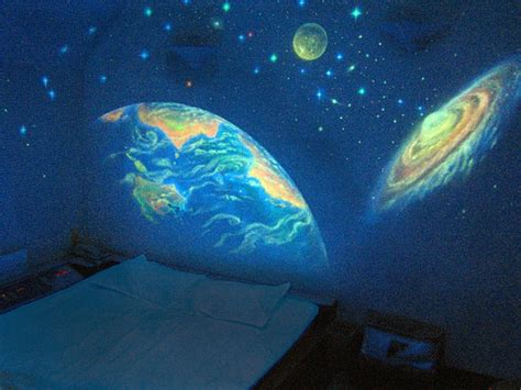 glow in the dark wall mural how to make a glow in the dark mural