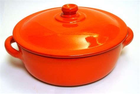 earthy orange terra allegra piral 4 5 quart covered casserole dutch