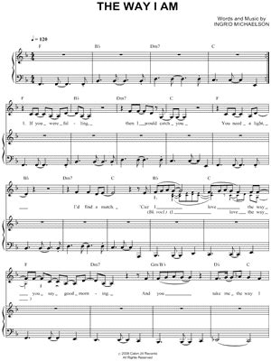 Ingrid Michaelson The Way I Am Guitar Chords