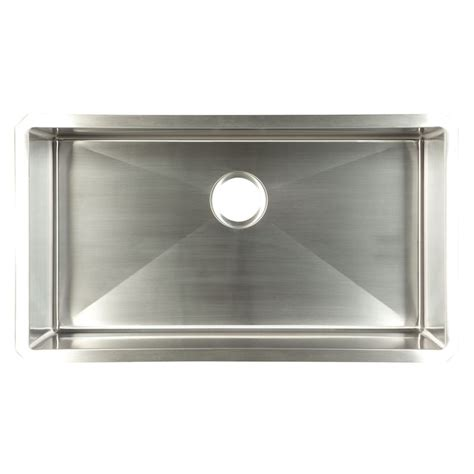 Stainless Undermount Kitchen Sinks Shop Franke Usa Frankeusa Satin Bowl Single Basin Undermount Kitchen Sink At Lowes