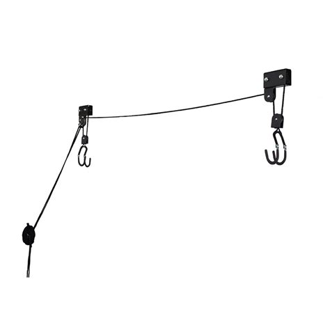 Ceiling Storage Pulley System by Kayak Hoist Pulley System Bike Lift Garage Ceiling Storage