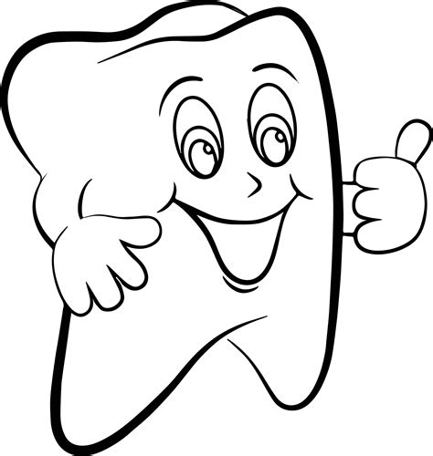 dental tooth coloring page wecoloringpage