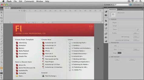 tutorial flash professional cs5 total training adobe flash cs5 professional essentials