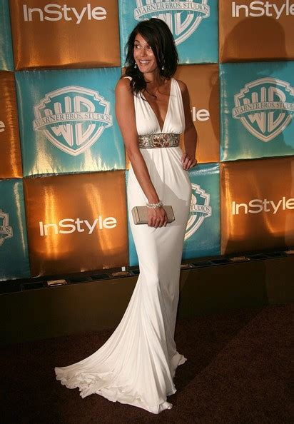 Teri Hatcher At The Golden Globes by Teri Hatcher In In Style Magazine And Warner Bros Studios