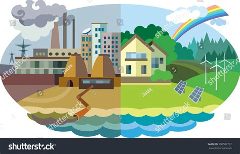 concept of design for environment flat design vector concept illustration urban stock vector