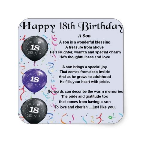 Birthday Quotes For 18th Birthday 18th Birthday Quotes For Son Quotesgram