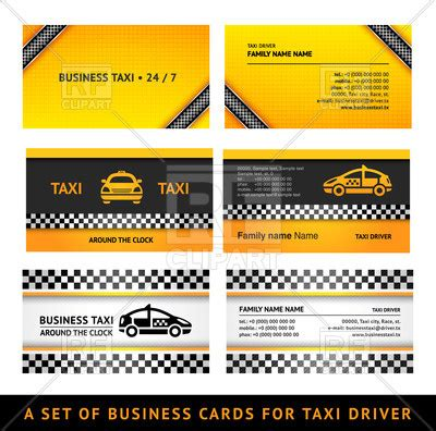 taxi name card template business card templates for taxi service royalty free