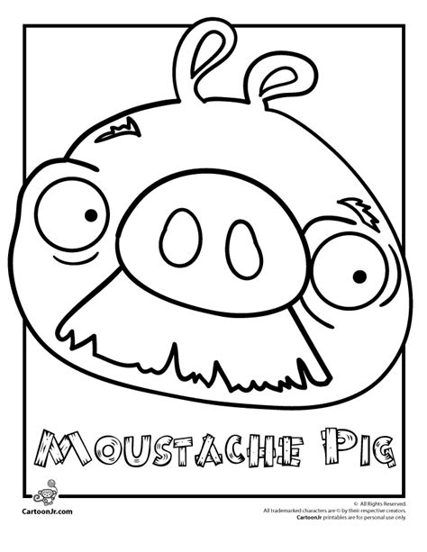 angry birds thanksgiving coloring pages angry birds moustache pig woo jr kids activities