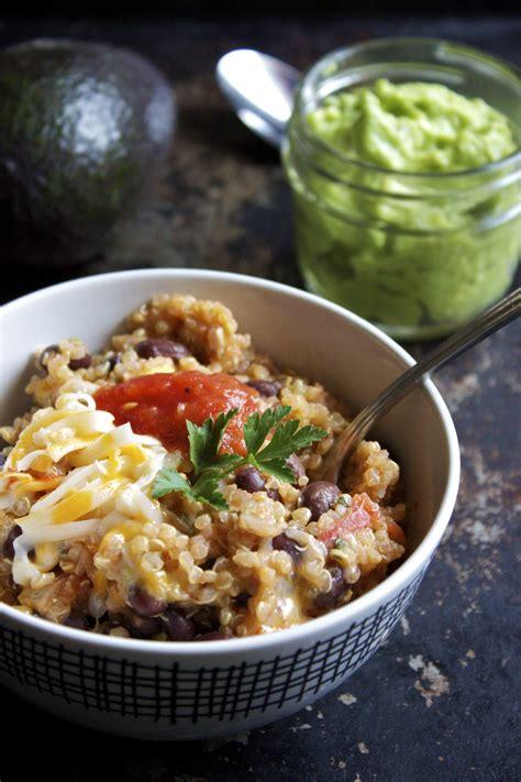 mexican quinoa with lazy guacamole ks